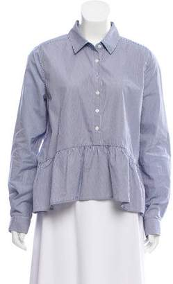 Trovata Birds of Paradis by Striped Button-Up Top