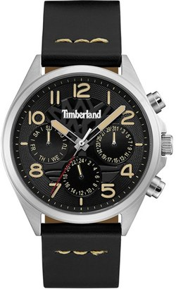 Timberland 'Bartlett Ii' Multifunction Leather Strap Watch, 48Mm $159 thestylecure.com