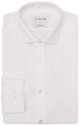 Calvin Klein White Diamond Pattern Extreme Slim Fit Dress Shirt