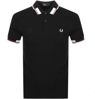 Fred Perry Abstract Collar Polo T Shirt Black