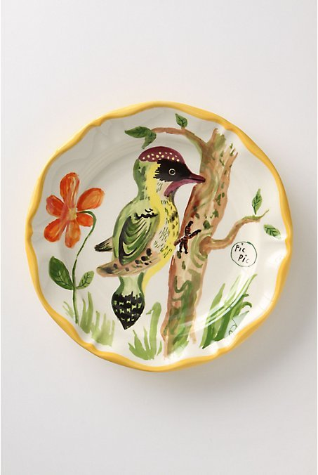 De Vincennes Dinner Plate, Woodpecker