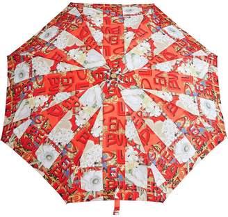 Burberry Graffiti Archive Scarf Print Folding Umbrella