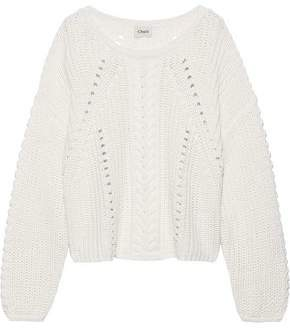 Charli Fabbiana Cable-knit Cotton Sweater