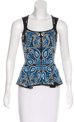 Torn By Ronny Kobo Patterned Peplum Top