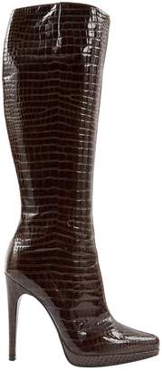 Casadei Brown Patent leather Boots