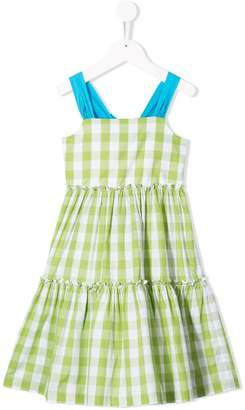 Il Gufo gingham check flared dress
