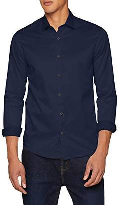 ONLY & SONS Men's Onsalves Ls 2-ply Easy Iron Shirt Noos Formal Cashmere Blue