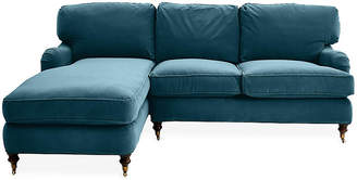 Robin Bruce Brooke Left-Facing Sectional - Admiral Blue Crypton