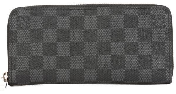 Louis VuittonLouis Vuitton Damier Graphite Canvas Zippy Vertical Wallet (Pre Owned)