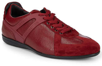 Versace Lo-Top Lace-Up Leather Sneaker