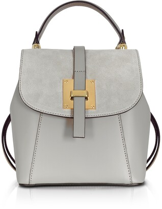 Gisèle 39 Palazia Black Suede and Leather Small Backpack