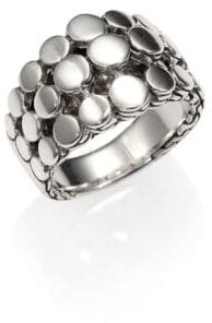 John Hardy Dot Sterling Silver Three-Row Ring