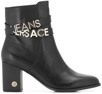 Versace ankle straps boots