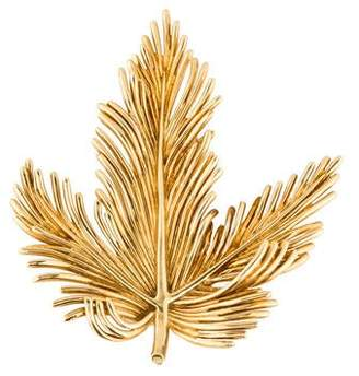 Tiffany & Co. 18K Leaf Brooch