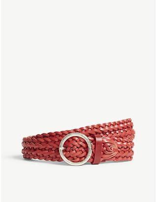 Claudie Pierlot Braided leather belt