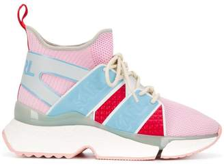 Karl Lagerfeld Paris colour block high top sneakers