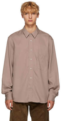 Lemaire Pink Straight Collar Shirt