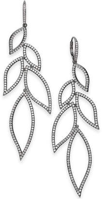 Danori Cubic Zirconia Leaf Drop Earrings, Created for Macy's