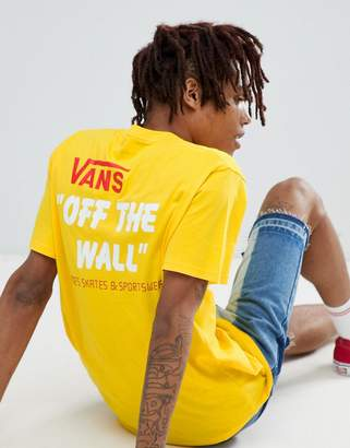 Vans Heritage T-Shirt With Back Print In Yellow