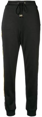 Versace side stripe track pants