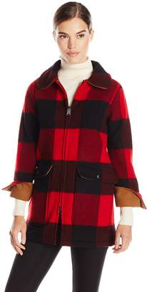 Woolrich White Collection Women's Giant Buffalo Plaid Wood Coat