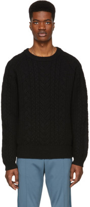 Tiger of Sweden Black Cable Knit Sweater