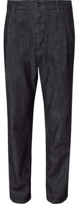 Arpenteur Tapered Pleated Denim Trousers
