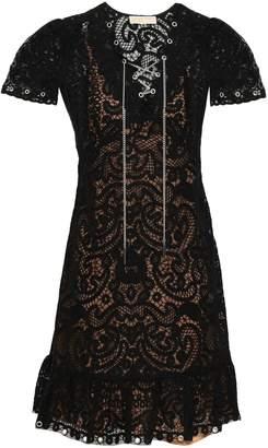 MICHAEL Michael Kors Lace-up Crocheted Lace Mini Dress