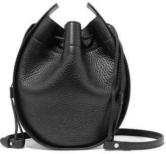 The Row Textured-leather Shoulder Bag - Black