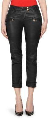 Balmain Boyfriend Leather Pants