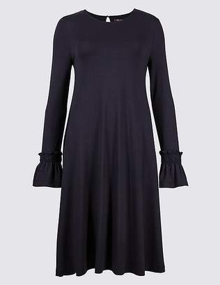 Marks and Spencer Ruffle Sleeve Swing Dress