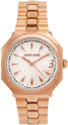 Roberto Cavalli By Franck Muller RV1L031M0026 Rose Gold-Tone Quilted Bracelet Watch