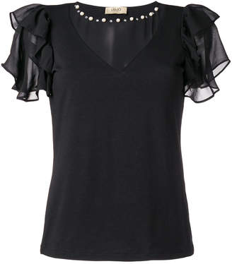 Liu Jo ruffled loose blouse