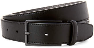 DKNY Black Faux Leather Belt