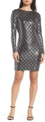 MICHAEL Michael Kors Glitter Cowl Back Sheath Dress