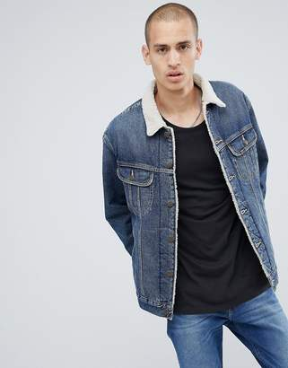 Lee Sherpa Borg Jacket Vintage Worn
