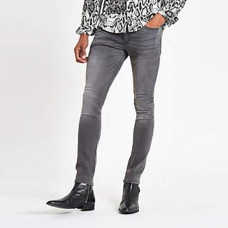 River Island Grey Danny super skinny stretch jeans
