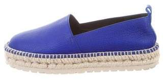 Balenciaga Round-Toe Leather Espadrilles