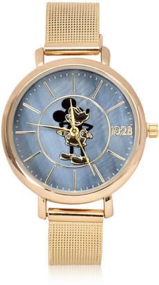 DISNEY MICKEY MOUSE Disney Mickey Mouse Gold Tone Bracelet Unisex Watch-Mk8078jc