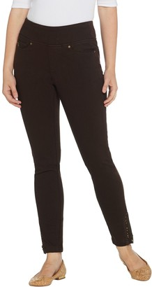 Belle By Kim Gravel Belle by Kim Gravel Flexibelle Grommet Trim Zip Jeggings