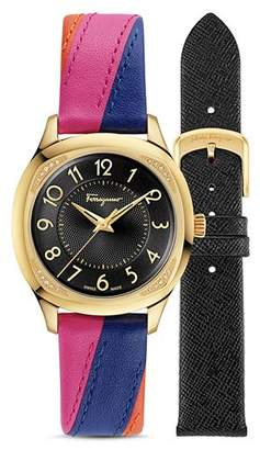 Salvatore Ferragamo Time Watch with Interchangeable Straps, 36mm