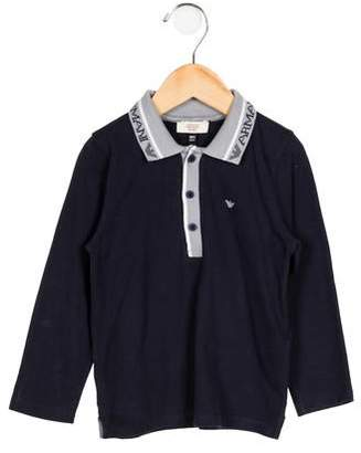 Giorgio Armani Baby Boys' Knit Button-Up Shirt