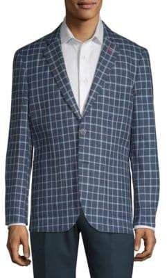 Tailorbyrd Check Slim-Fit Jacket