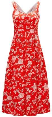 Joe Browns Floral Sleeveless Dress with Full Skirt