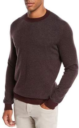 Loro Piana Men's York Heathered Cashmere Sweater