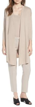 Anne Klein Open Front Long Cardigan