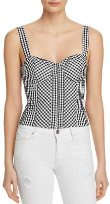 GUESS Gingham Bustier Top