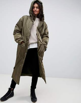 Asos Design DESIGN maxi fleece lined rainwear