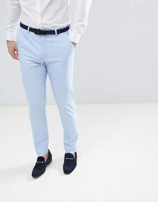 Asos Wedding Skinny Suit Pants In Kentucky Blue