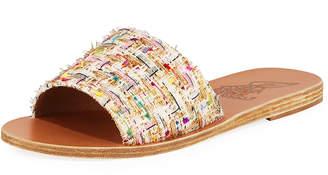 Ancient Greek Sandals Taygete Calf-Hair Sandal Slides